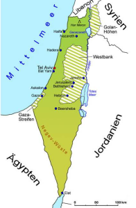 besetzte Golanhöhen am Ostufer des Sees Genezareth
