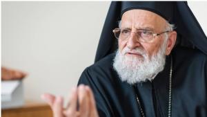Der Patriarch der christlich-melkitischen Kirch Gregorios III. Laham (1)
